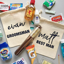 Groomsman hangovers kit bag customize bachelorette party gift wedding Favor Bag best man emergency survival welcome bags