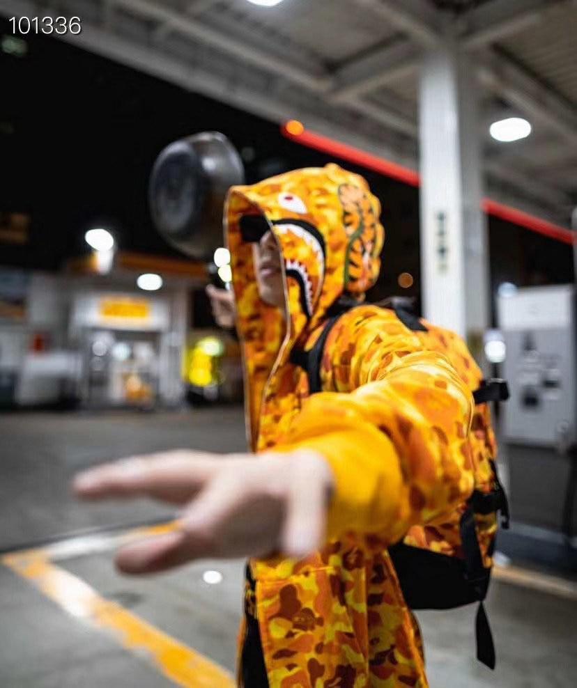 Bape Hoodie Men's and Women's Same Casual Hooded Camouflage Sweatshirt Harajuku Street Jacket