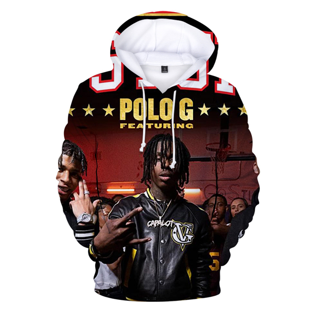 POLO G 3D THEMED HOODIE (6 VARIAN)