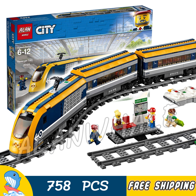 758PCS Trains Locomotive Remote Control Motorized Engine section Platform Figure Building Blocks Toys Compatible With Lago image