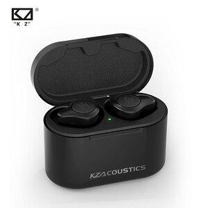 KZ S2 1BA + 1DD Hyrbid sterownik TWS prawdziwe bezprzewodowe wkładki douszne Bluetooth słuchawki z redukcją szumów sterowanie dotykowe KZ S1 S2 Z1 S3