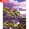 HUACAN DIY Pictures By Number Lighthouse Kits Home Decor Painting By Numbers Landscape Drawing On Canvas HandPainted Art Gift