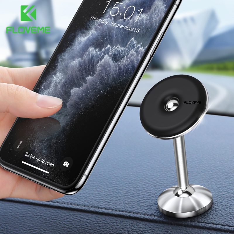 FLOVEME Car Phone Holder Universal Magnetic Phone Holder In Car For Cell Phone 360 Degree Rotation Mobile Phone Holder Stand