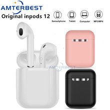 AMTERBEST Original inPods 12 TWS Wireless Headset Touch Key Bluetooth 5.0 Sport Earphone Stereo Headphone for Smartphones PK i12