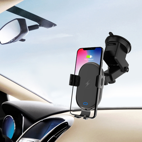 2 In 1 Mobile Phone Stand Car Holder Smartphone Wireless  Fast Charging Scrubs Touch Sensing Bracket Mount Car Accessories Lahore