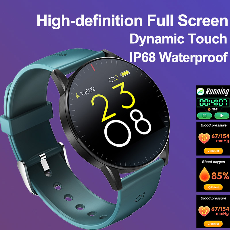 Timewolf Full Touch Screen Smartwatch Blood Oxygen Blood Pressure Men Smart Watches Waterproof IP68 Smart Watch for Android IOS
