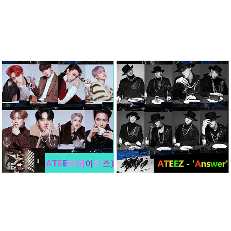 9Pcs Set Kpop font b ATEEZ b font Photocard font b Album b font Photo Card
