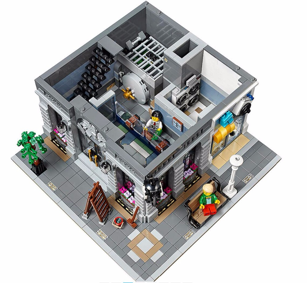 15001 Brick Bank Creator Series City Legoinglys Street Model 2413pcs Building Blocks Bricks Toys 10251 Gift For Children 1