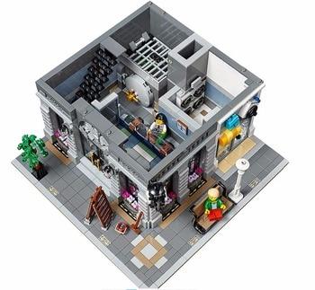 15001 Brick Bank Creator Series City lepining Street Model 2413pcs Building Blocks Bricks Toys 10251 Gift For Children 2