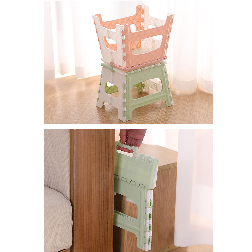 Portable Step Stool Plastic Collapsible Child Chair Non-sliping Shower Sitting Stool 6