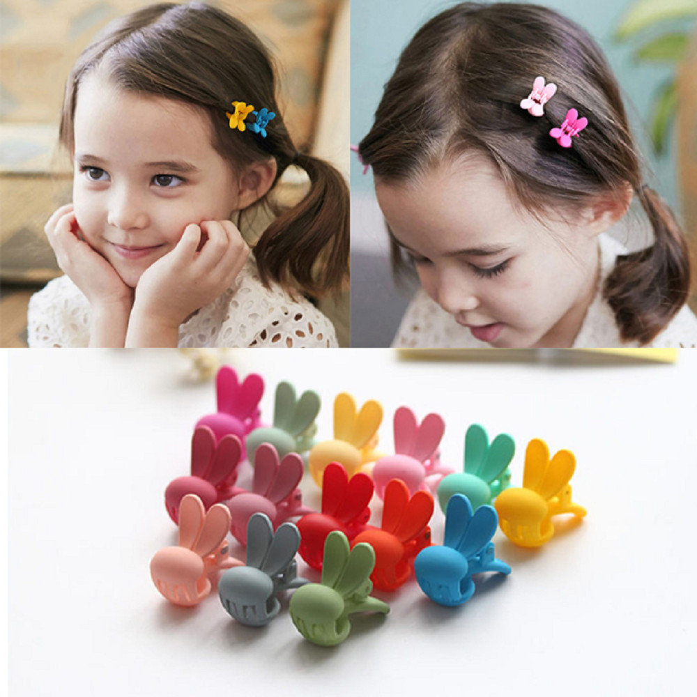 10 Pcs/Lot Girl Cute Hair Accessories Hair Claws Rabbit Hair Decoration Clip Hairpin Baby Kids Hair Clips For Student Headwear