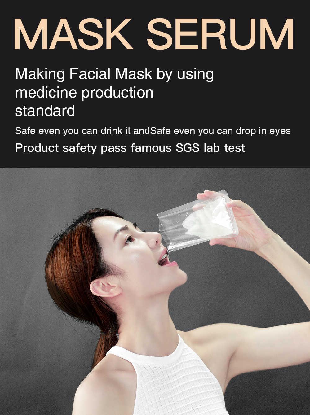 Rosa revitalizante carbón máscara Facial limpiadora hidratante meclor aditivo libre Natural orgánico negro oro cara hoja conjunto