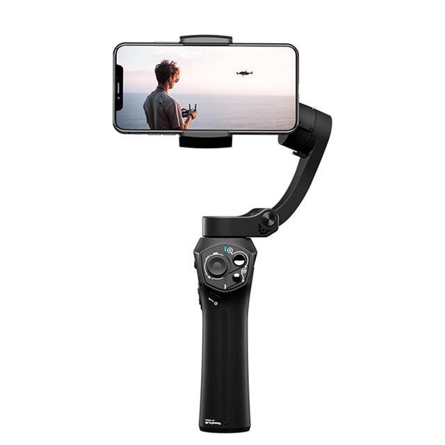Novo snoppa atom 3 axls dobrável pocket sized handheld cardan estabilizador dobrável para iphone para gopro com carregamento