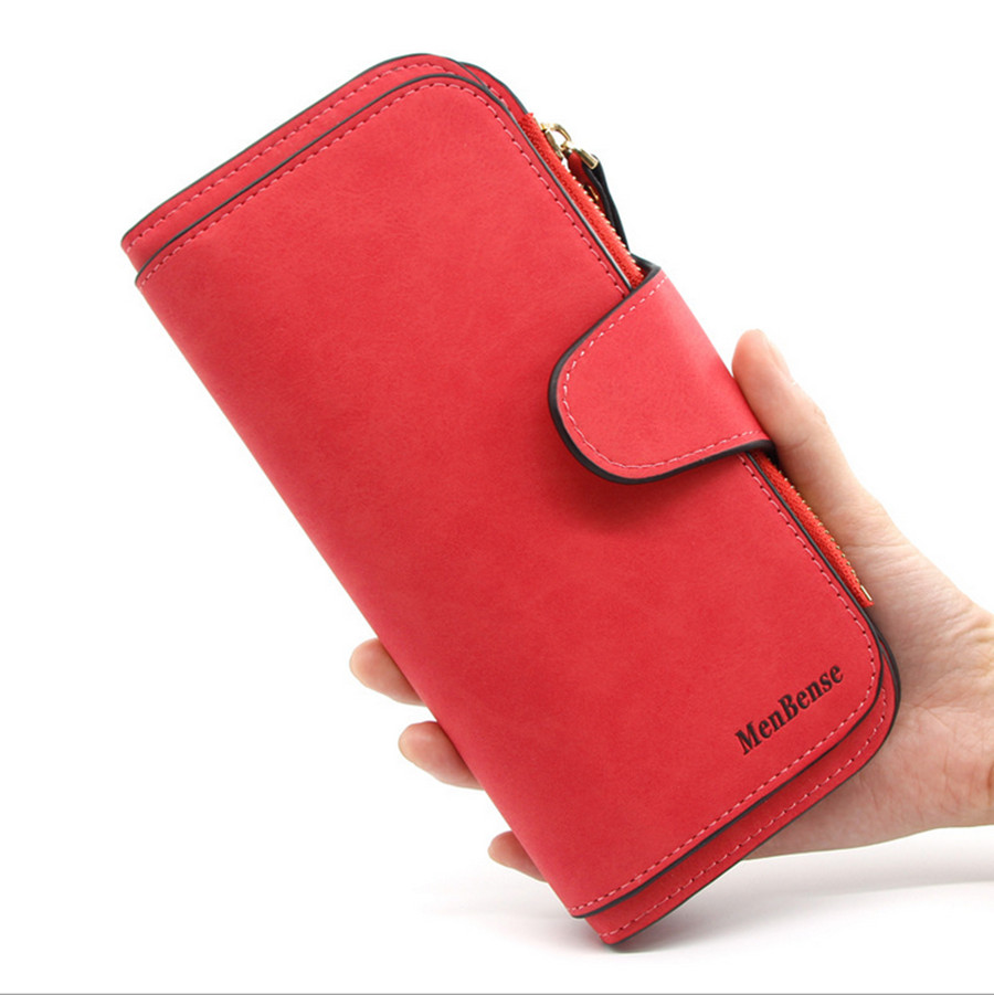 2019 New Fashion Wallet Women Short Frosted Leather Large Capacity Clutch Wallet Women
