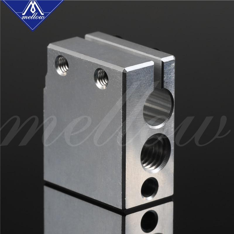 Mellow High Quality 3D Printer Volcano Heater Block For E3d Volcano V6 Hotend Compatible Pt100 Sensor/thermistor Cartrodge