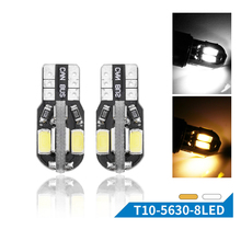 10PCS T10 8SMD 5630 LED Car Light Canbus NO OBC ERROR Auto Wedge Lamp 2825 W5W LED Canbus 8 SMD 5730 Led Parking Bulb 12V 10pcs ba9s 24smd 4014 led car light bulb parking lights canbus error free auto lamp led for mercedes w210 e420