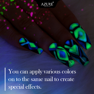 Image 5 - Azure Schönheit 8 teile/los Leucht Nagel Gel Leuchtstoff In Die Dark Led Gel Nagel Lack Tränken Weg Langlebige Chamäleon gel Lack