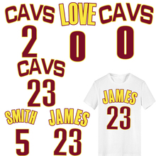 Iron on James 23 Patches for Clothing DIY Jersey Applique Heat Transfer Vinyl Ironing Stickers Stripes Clothes Thermal Press