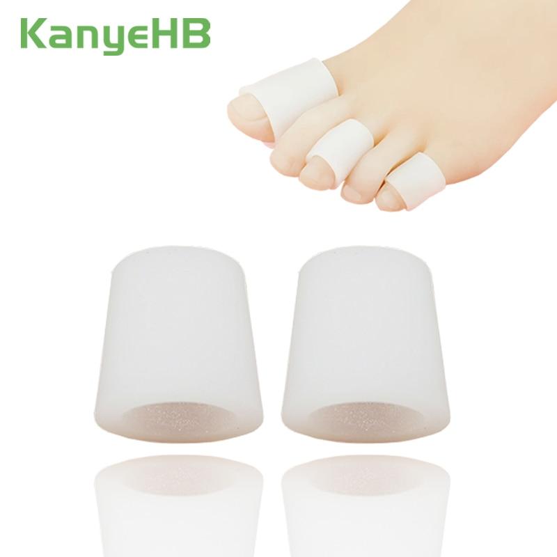 2Pieces Transparent Gel Fingers Protector Callus Corn Corrector Hammer Toe Separator Foot Care Tool Suport H051