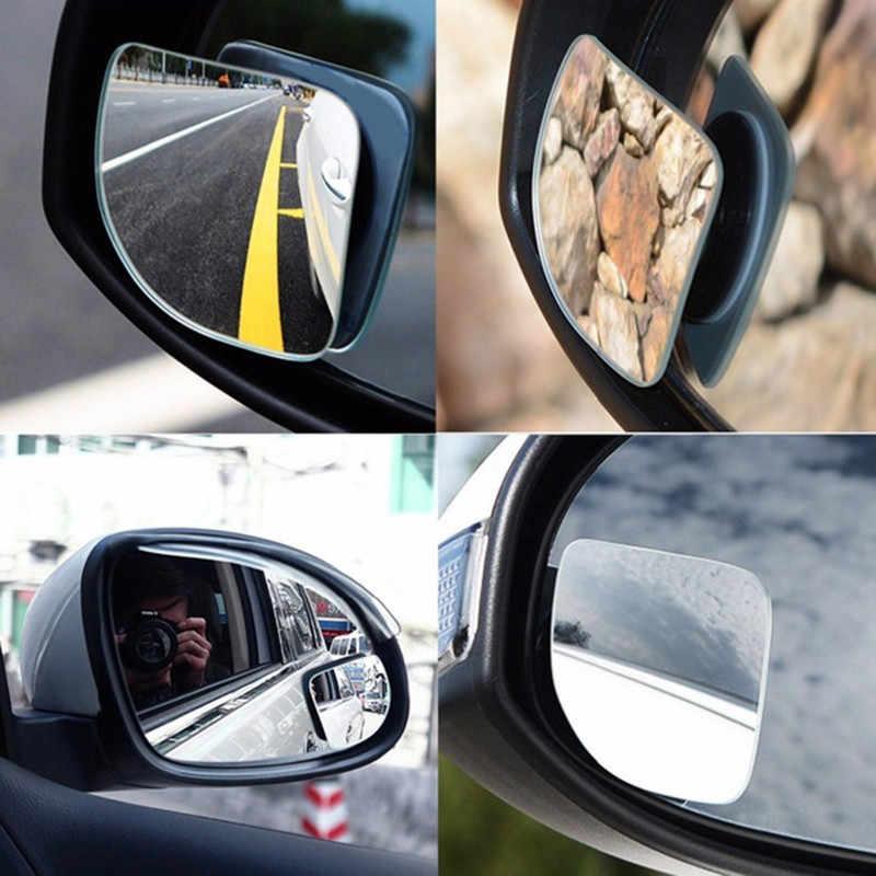 2PCS รถคนตาบอดกระจกปรับ Frameless HD มุมแก้วรอบนูนที่จอดรถเสริมด้านหลังรถอุปกรณ์เสริม