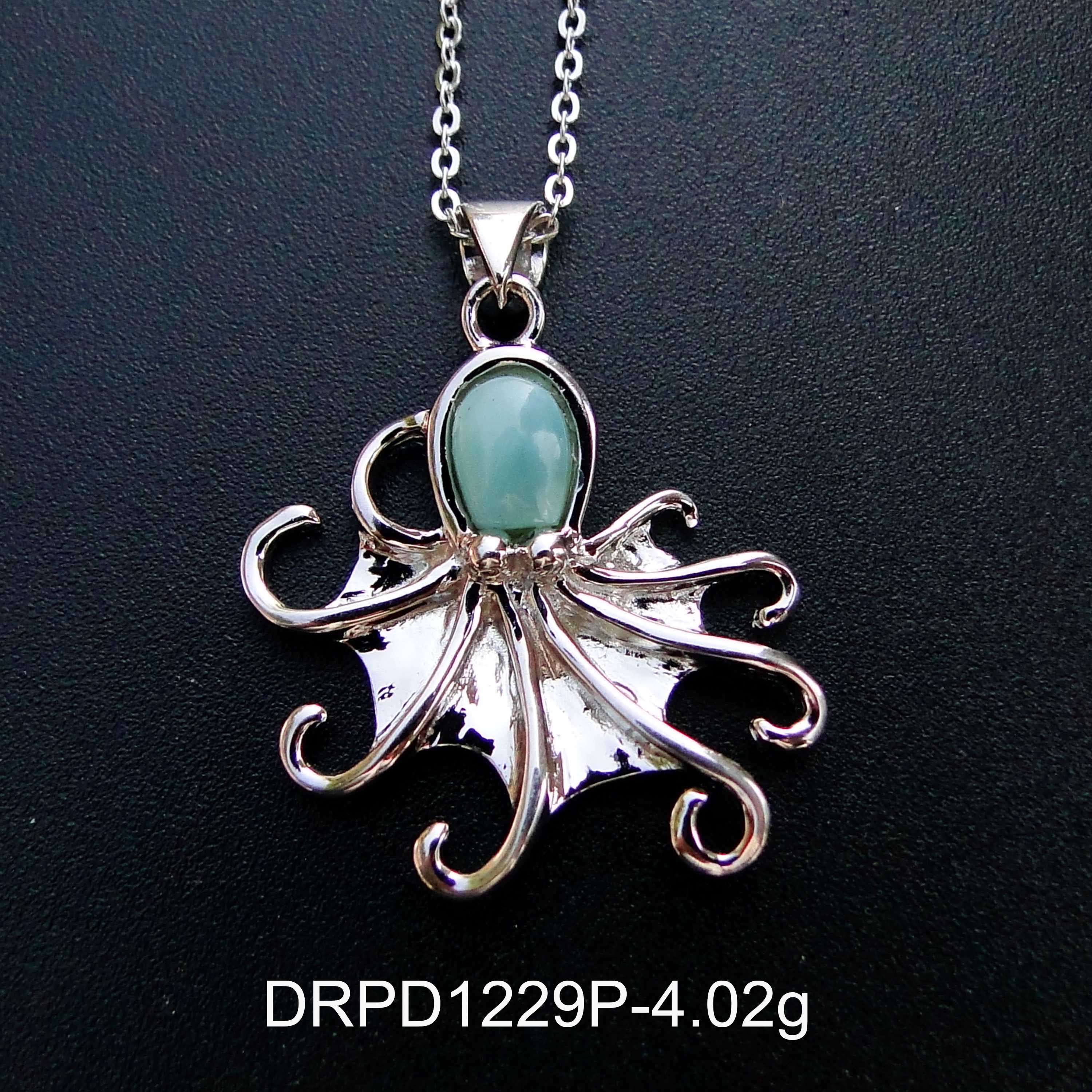 Pendant in real larimar and silver