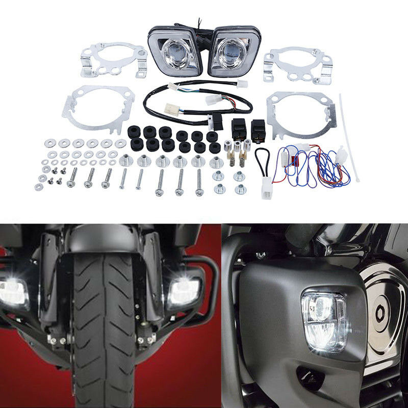 Motorcycle LED Turn Signal Driving Fog Light For Honda Goldwing GL1800 12-17 F6B Valkyrie