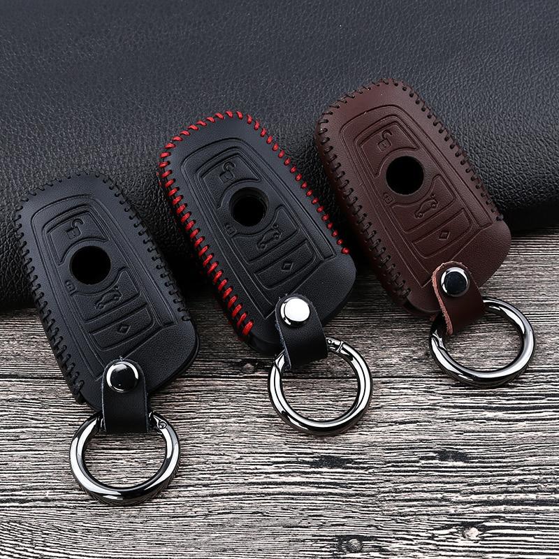 Купить кожаный чехол для автомобильных ключей bmw 1 2 3 4 5 7 series
