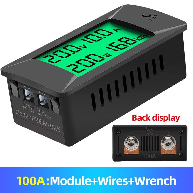 PZEM-025 Nieuwste 0-300V 100A Shunt Bulit Dc Digitale Batterij Tester Bidirectionele Ampèremeter Voltmeter Power Energy watt Meter 3