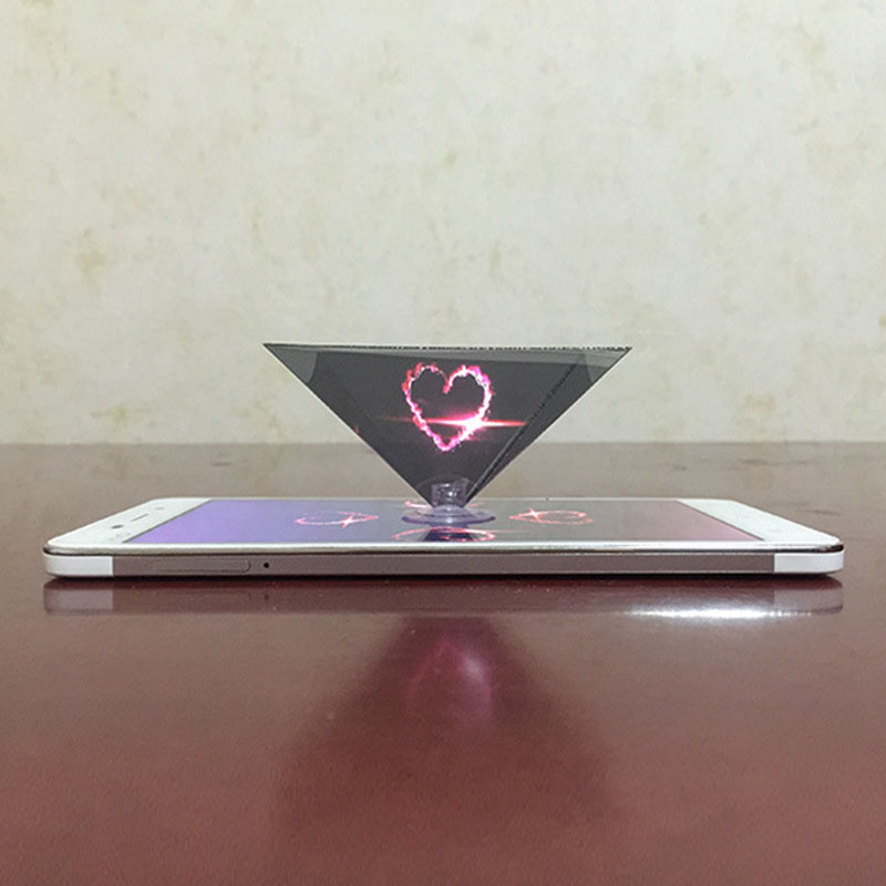 3D Hologram Pyramid Display Projector Video Stand Universal For Smart Mobile Phone SP99