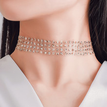 Necklace Jewellery Choker Gold-Chain Punk Gothic Wholesale Women for on Gift Sequins