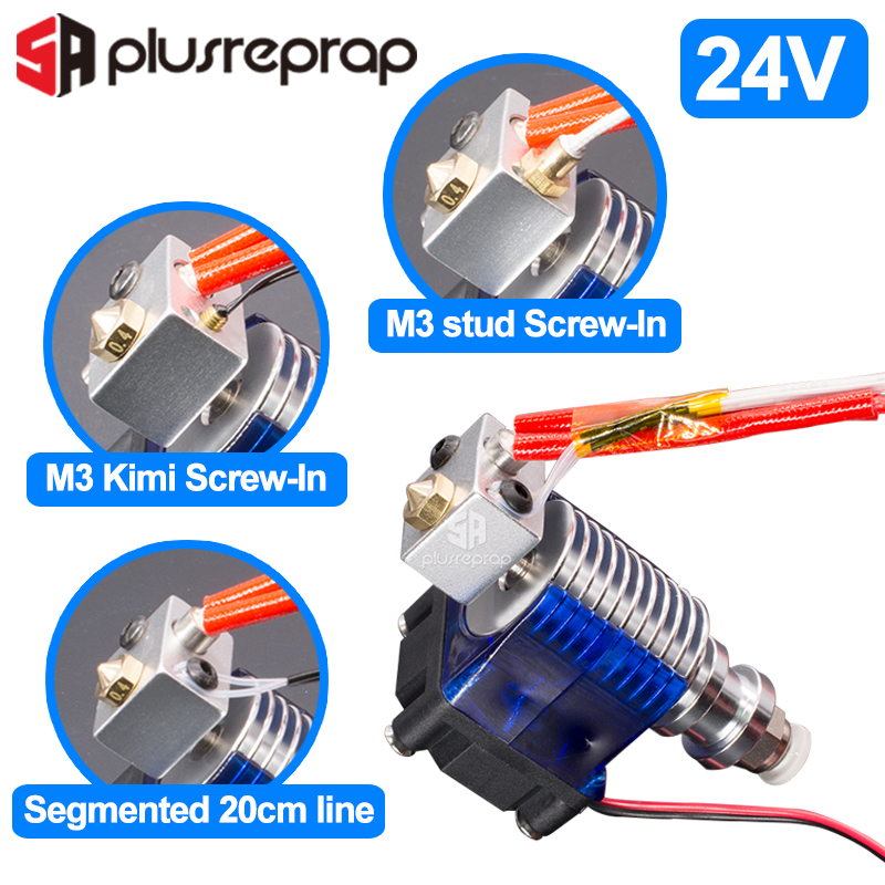 V6 J-head 24V All Metal Hotend Wade Or Bowden Extruder Heater Thermistor Fan Nozzle Heat Sink For 1.75/ 3mm 3D Printer Part