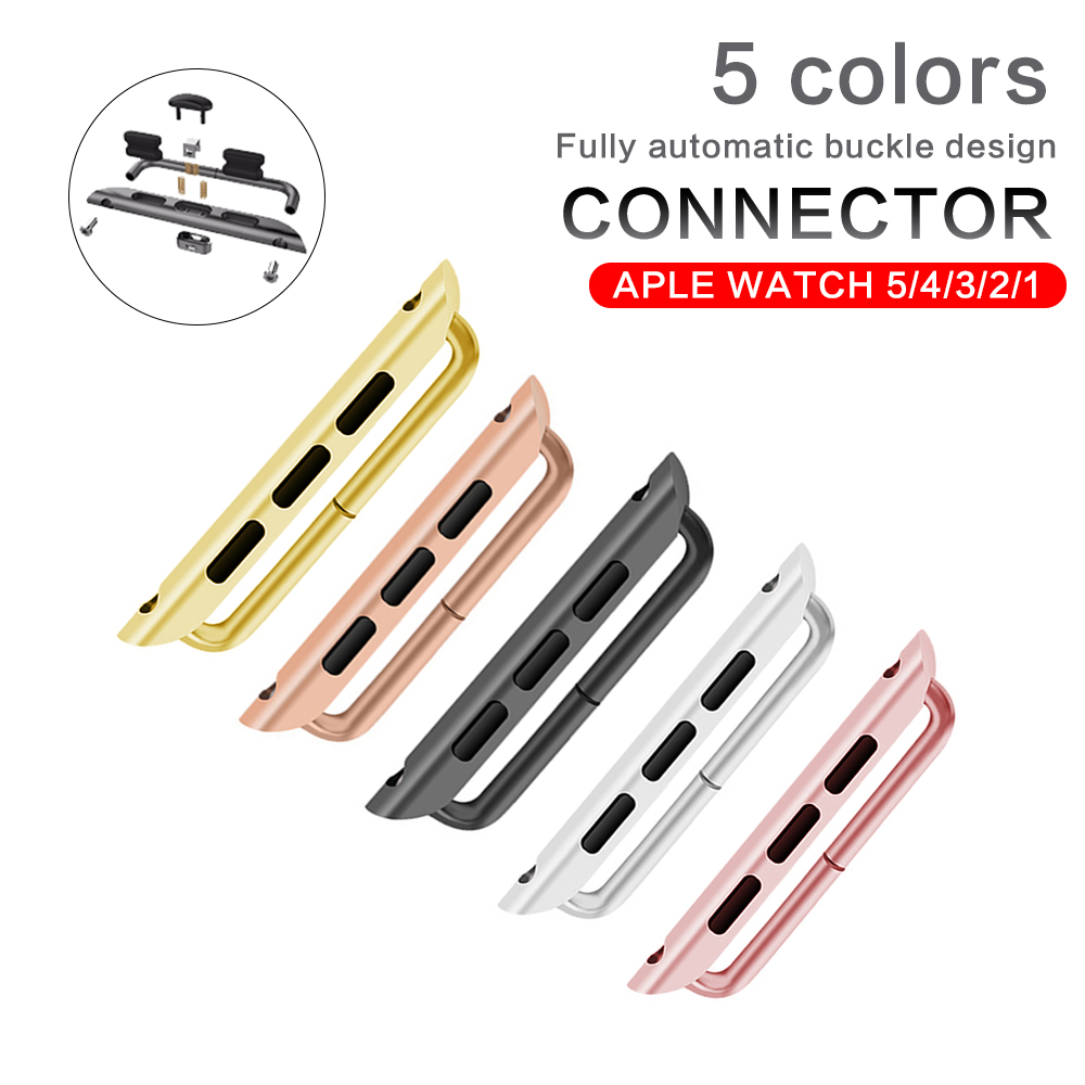 Watches Accessories Stainless Steel Clasp Buckle Lugs Adapters Connector With Pentalobe Screwdriver For Apple Watch iWatch