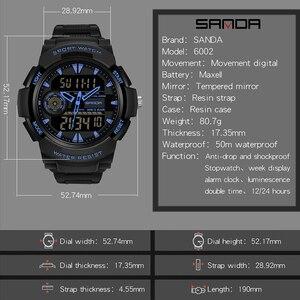Image 2 - Часы наручные SANDA мужские электронные, спортивные Водонепроницаемые многофункциональные светодиодные цифровые в стиле милитари, для плавания