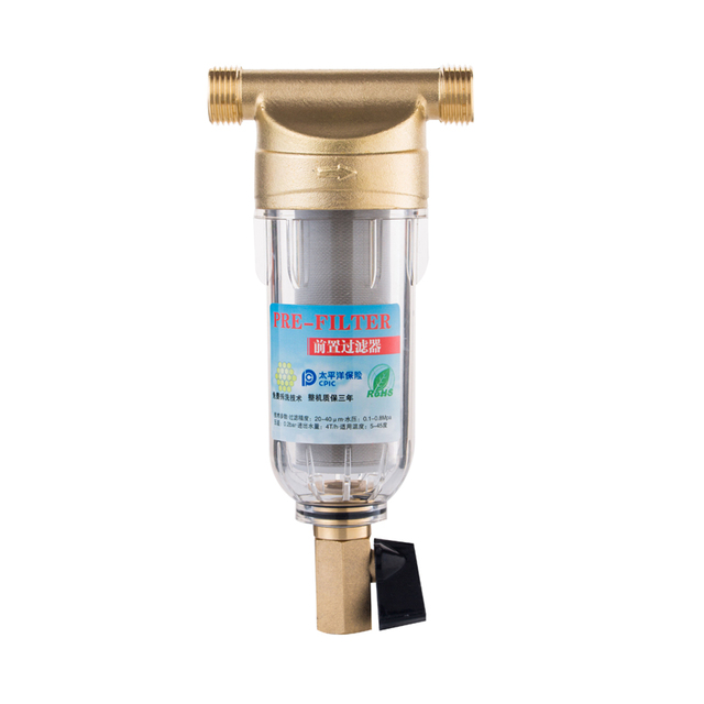 "Prefilter מים מסנן צעד ראשון של מים מטהר מערכת 40 מיקרון נירוסטה רשת prefiltro 3/4 ""כל בית מראש מסנן"