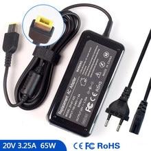 20V 3.25A ноутбук адаптер переменного тока зарядное устройство для Lenovo ThinkPad 20DH 20B0 20FM 80LD 20FU 80AG Z505 20AX 20BW E455 E531 G500 M495 E570