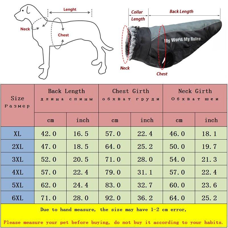 Куртка для больших собак, меховой воротник, зимняя одежда для собак, водонепроницаемое пальто для больших собак со съемной подвязкой, наряд для французского бульдога, Мопса-5