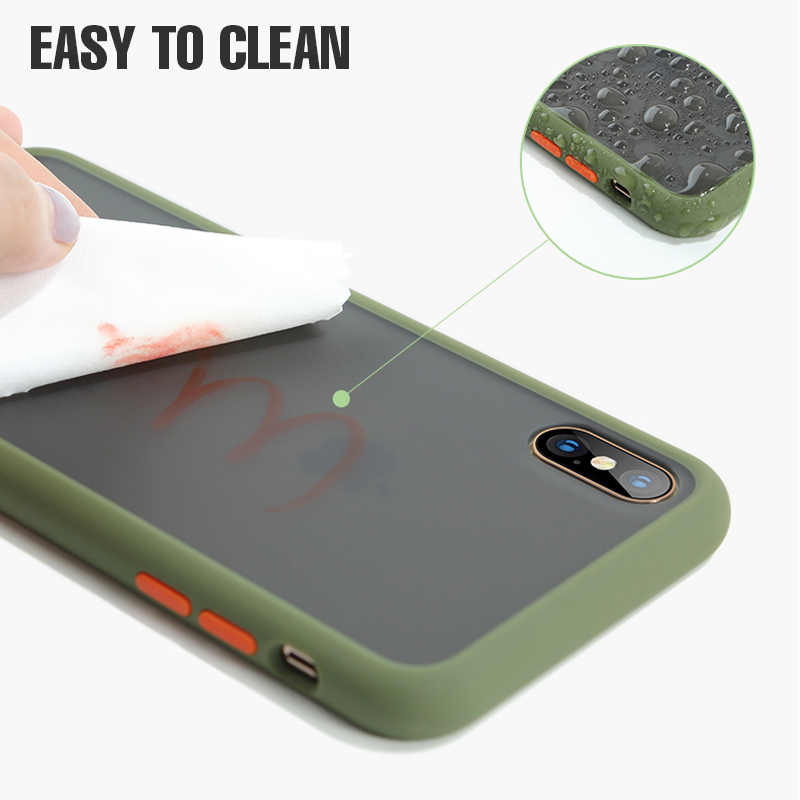 Luxe Shockproof Case Voor Iphone X Xr Xs Max Siliconen Translucent Matte Telefoon Cover Voor Iphone 11 Pro Max 7 8 Plus Gevallen Fundas