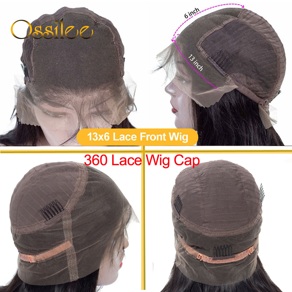 Ossilee Straight Highlight Wig 4x4 Closure Wig Piano Color 13x4 Lace Front  Wigs 4/27 Ombre  13x6 Lace Front Wig 6