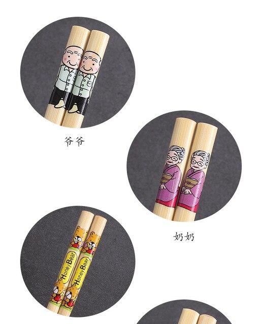 набор японских палочек для еды бамбуковых из натурального дерева фотография