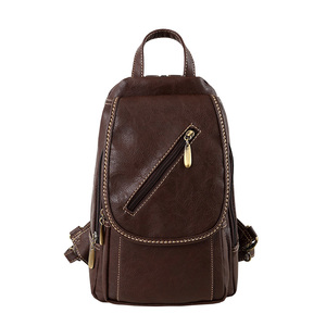 Image 2 - Vintage Soft PU Leather Backpack Women Purse Mini Lady Shoulder Bags Small Travel Casual School Crossbodys Bag for Female