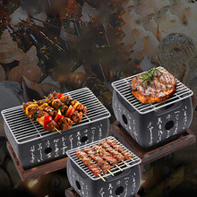 Outdoor BBQ Grill-Pan Barbecue-Stove Charcoal Japanese Portable Aluminium-Alloy