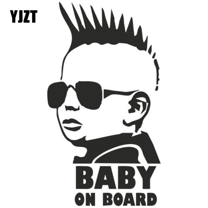 YJZT 8.3*15CM BABY ON BOARD Funny Car Sticker Personality Warning Decal C4-0868