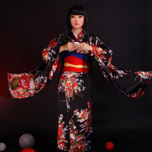 Japanese Kimono Suit Women Cosplay Costume Dress Long Sleeve Anime Jigoku Shojo Hell Girl Enma Ai Cosplay Dresses