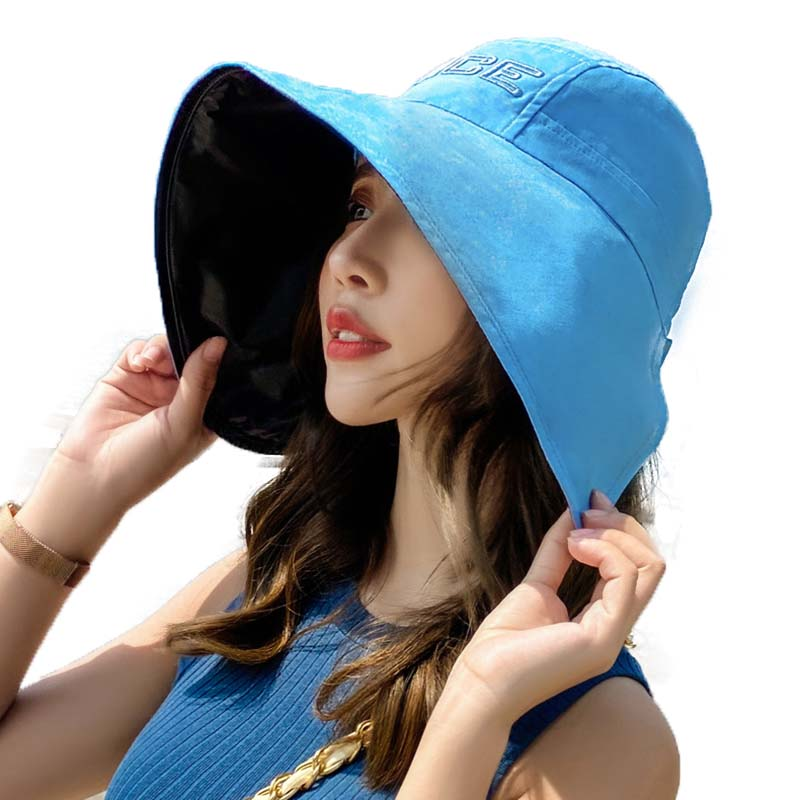 Fibonacci 2020 New Fashion Big Brim Sun Hat For Bifurcation Wide Brim Summer Beach Visor Women Hats