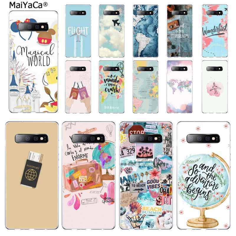 MaiYaCa Ravelling Dunia Peta Perjalanan Ponsel Case Penutup Shell UNTUK Samsung S7 EDGE S8 S9 S10 S20 PLUS S10 LITE s10 5G