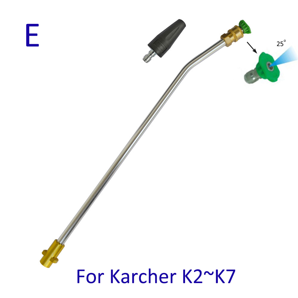 Pressure Washer Metal Wand Tips Water Spray Lance Spear Quick Jet Tips Rotating Turbo Nozzle for Karcher K High Presure Washer 4