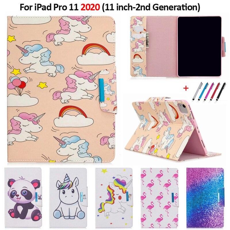 Funda Pro Flamingo for Tablet 11 Case Panda For Cover Unicorn iPad Kawaii 2020 Coque