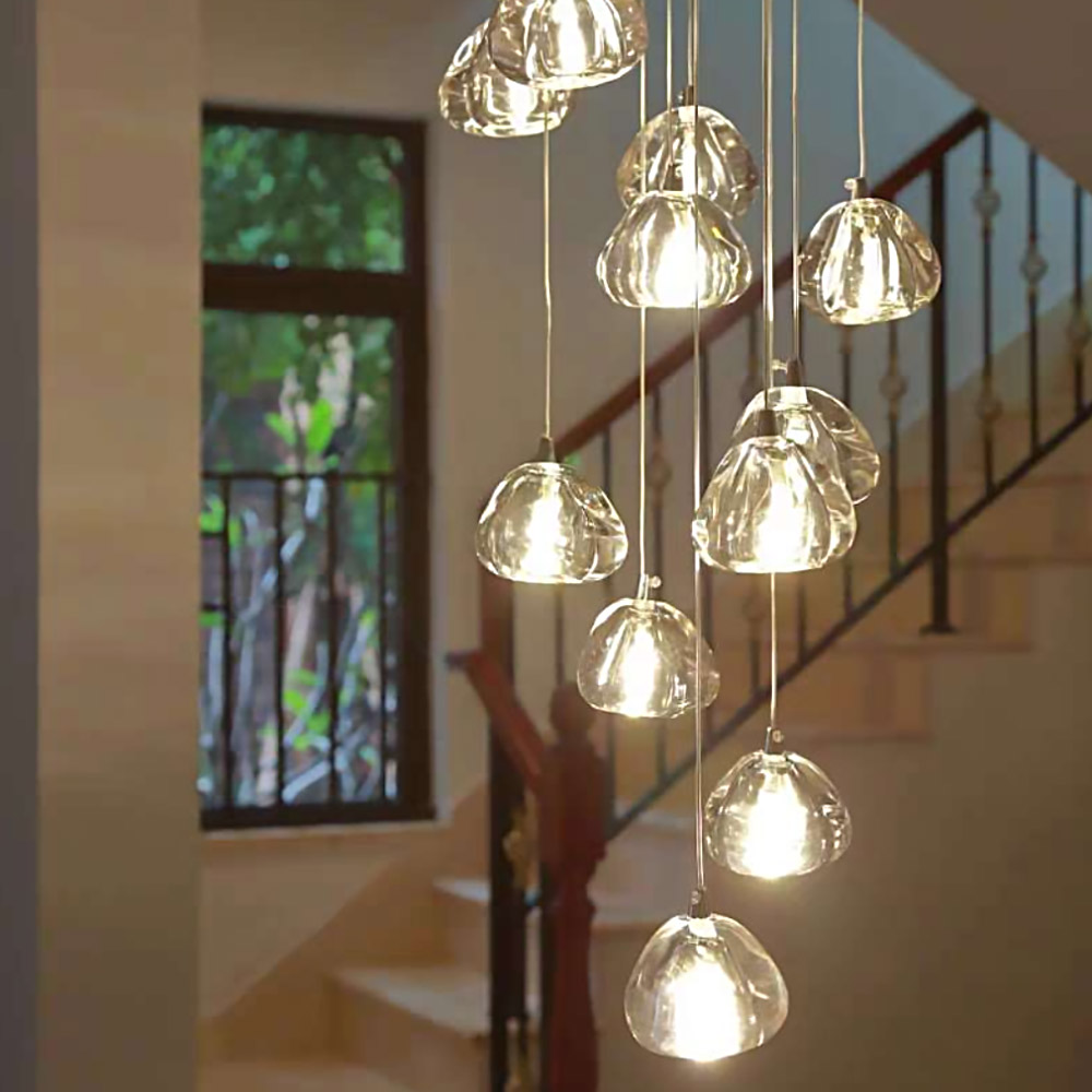 Modern Crystal Ball Chandelier Lighting Staircase Lamp Living Room Bedroom Decor Chandeliers Kitchen Island Indoor Light Fixture