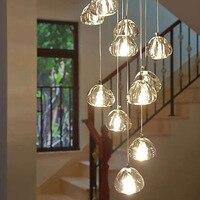 Modern Crystal Ball Chandelier Lighting Staircase Lamp Living Room Bedroom Decor Chandeliers Kitchen Island Indoor Light Fixture