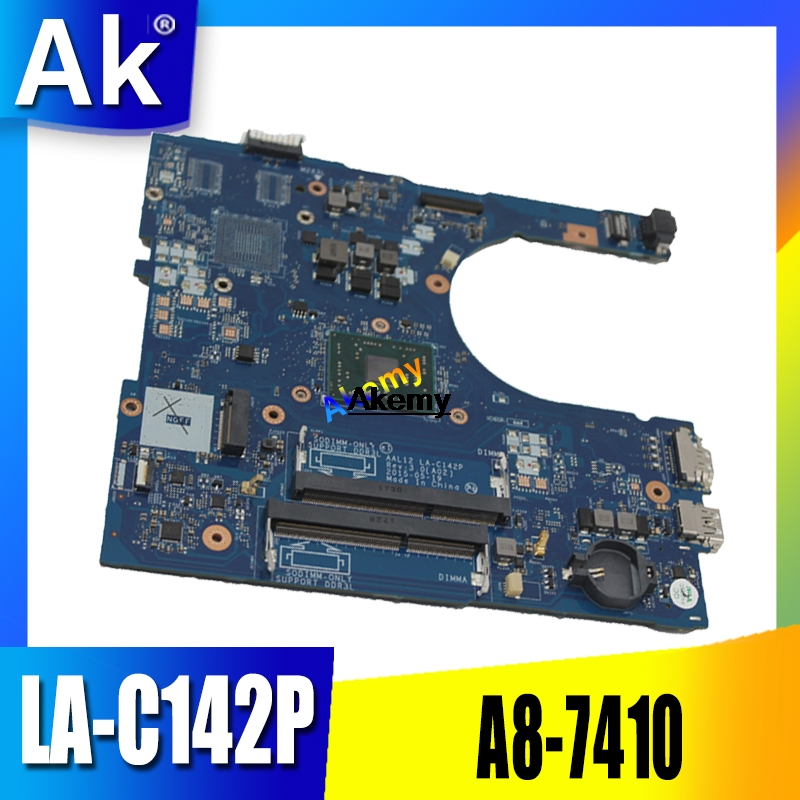 For Dell Inspiron 5455 5555 Laptop Mortherboard With A8 CPU AAL12 LA-C142P Motherboard Tested 100% Work